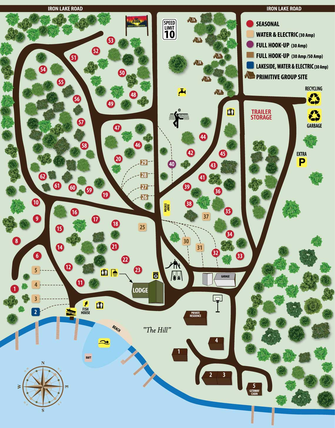 Top O' the Morn Campground Map