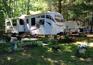 RV Camping on Iron Lake in Wisconsin